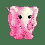 Fluffy Favourites Pink Elephant Symbol